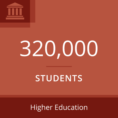 320,000 Students - Higher Education